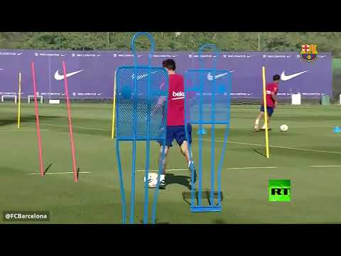 ميسي في تدريبات برشلونة للمرة الأولى منذ انتهاء أزمة رحيله