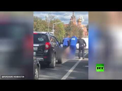 الشرطة تعتقل مذيعة تلفزيون ظهرت عارية في ضواحي موسكو