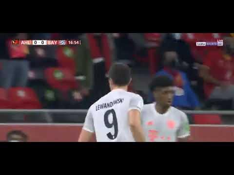شاهد ليفاندوفسكي يحرز الهدف الأول لفريق بايرن ميونيخ أمام الأهلي