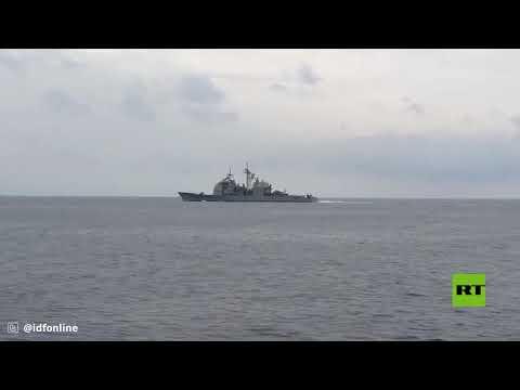 شاهد السفن الأميركية والإسرائيلية تنفذ دورية مشتركة