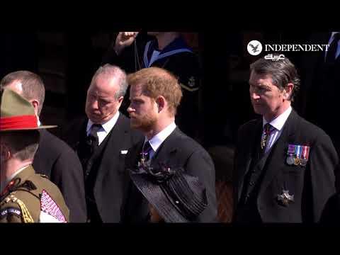 شاهد  مراسم تشييع جنازة الأمير فيليب زوج ملكة بريطانيا