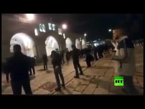 شاهد آخر صلاة في المسجد الأقصى قبل إغلاقه بسبب كورونا