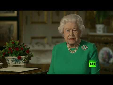 شاهد الملكة إليزابيث تعد الشعب البريطاني بالانتصار على كورونا