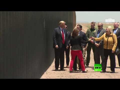 شاهد ترامب يزور قسم سان لويس من الجدار الحدودي في ولاية أريزونا
