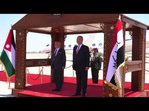 الرئيس برهم صالح خلال يستقبل الرئيس عبد الفتاح السيسي